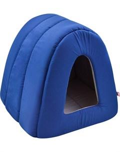 Дом для кошек туннель поплин 1 34 40 34 см темно синий 766112 Zooexpress