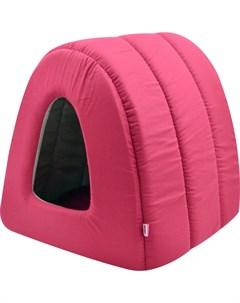 Дом для кошек туннель поплин 2 42 50 35 см бордо 766121 Zooexpress