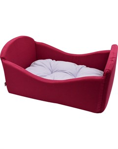 Лежанка для кошек Кроватка поплин 1 50 35 23 см бордо 757411 Zooexpress