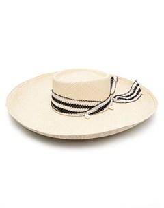 Соломенная шляпа с лентой Sensi studio