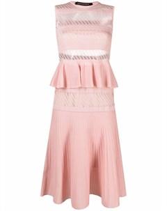 Расклешенное платье миди с оборками Antonino valenti