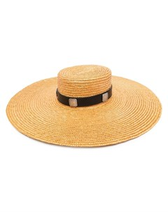 Соломенная шляпа с широкими полями Kate cate