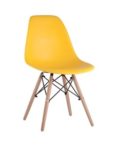 Стул Eames деревянные ножки 8056PP yellow Stool group