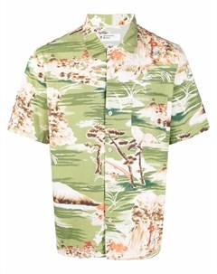 Рубашка с графичным принтом и короткими рукавами Universal works