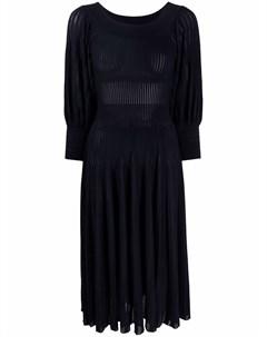 Платье миди в рубчик Antonino valenti