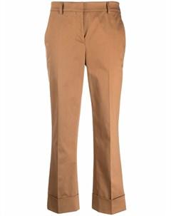 Укороченные брюки прямого кроя Incotex