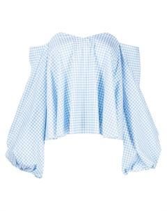 Блузка Everly в клетку гингем Caroline constas