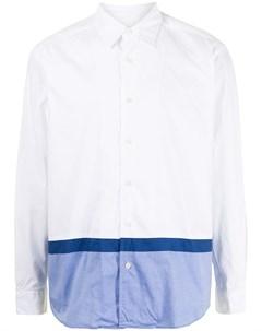 Двухцветная рубашка на пуговицах Sophnet.
