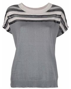 Полосатая футболка тонкой вязки Stephan schneider