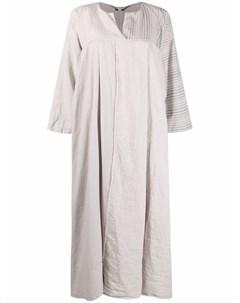 Драпированное платье миди в полоску Kristensen du nord