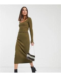 Трикотажная юбка миди от комплекта ASOS DESIGN Tall Asos tall