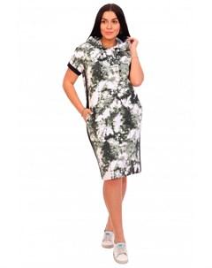 Платье трикотажное Бонни зеленое Инсантрик
