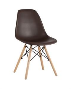 Стул Eames коричневый деревянные ножки 8056PP brown 66009 Stool group
