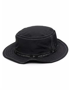 Шляпа федора с логотипом And wander