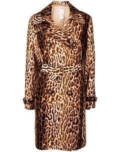 Тренч pre owned с леопардовым принтом Céline pre-owned