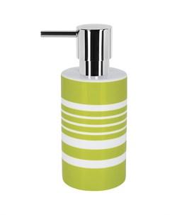 Дозатор для жидкого мыла Tube Stripes зеленый Spirella