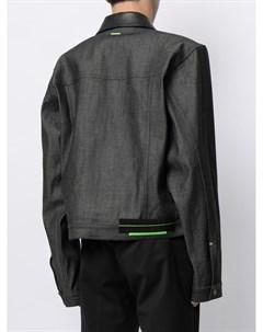 Джинсовая куртка с контрастными вставками Sankuanz