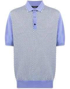 Рубашка поло с геометричным узором Stefano ricci