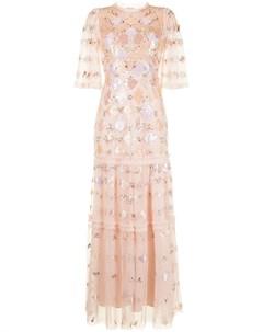 Платье макси с пайетками Needle & thread