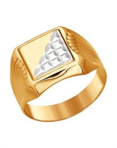 Кольцо из золота с родированием Sokolov
