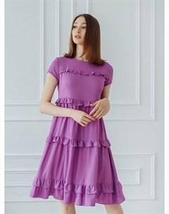 Платье вискозное Анджеллина сиреневое Инсантрик