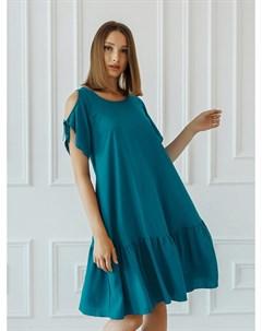 Платье штапельное Микела морская волна Инсантрик