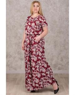 Платье штапельное Даниэла бордовое Инсантрик