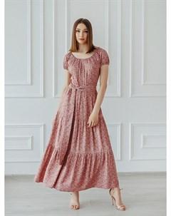 Платье штапельное Шарм сиреневое Инсантрик