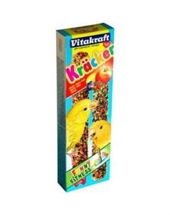 Лакомство для птиц крекеры фруктовые для канареек 0 09 кг Витакрафт