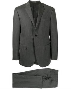Костюм Academy с однобортным пиджаком в елочку Corneliani