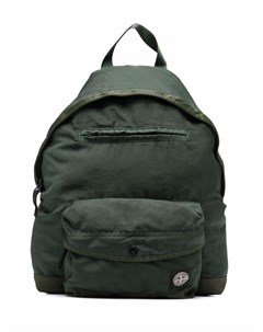 Рюкзак на молнии с нашивкой логотипом Stone island junior