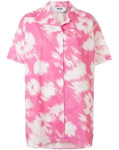 Рубашка оверсайз с принтом тай дай Msgm