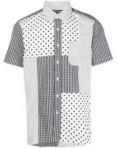 Рубашка с короткими рукавами в технике пэчворк Sophnet.