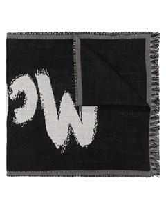 Объемный шарф McQueen с принтом граффити Alexander mcqueen