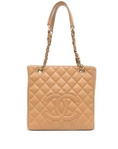 Стеганая сумка тоут 2005 го года с логотипом CC Chanel pre-owned