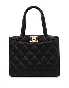 Стеганая сумка тоут 1995 го года с поворотным замком Chanel pre-owned