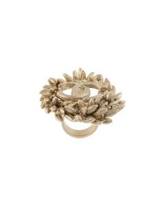Кольцо с логотипом CC Chanel pre-owned