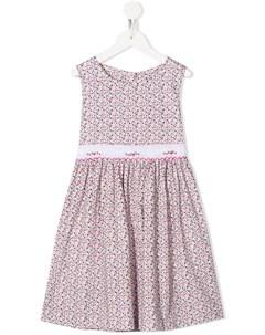 Платье с вышивкой и цветочным принтом Siola