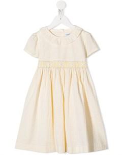 Платье в полоску с вышивкой Siola