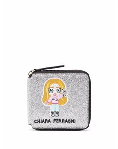 Кошелек на молнии с логотипом Chiara ferragni kids