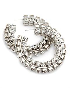 Серьги кольца с кристаллами Area