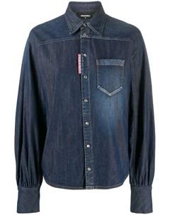 Джинсовая рубашка с широкими рукавами Dsquared2