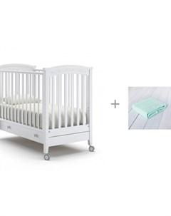 Детская кроватка Perla solo и Плед Baby Nice Одеяло вязанное Nuovita