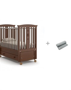 Детская кроватка Fasto swing маятник продольный и Плед AmaroBaby Pure Love Косичка Nuovita