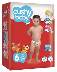 Подгузники 15 кг 38шт Cushy baby