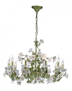 Люстра подвесная с цветочками Fiori di rose Fiori di rose 1770 10 Luci Lucia tucci