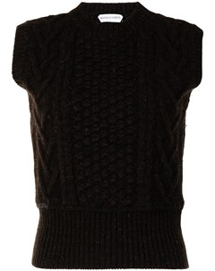 Джемпер фактурной вязки без рукавов Bottega veneta