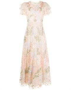 Вечернее платье Elim с тюлем Needle & thread