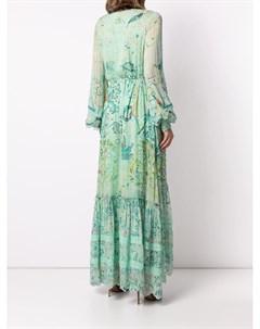 Платье макси с цветочным принтом Hemant & nandita