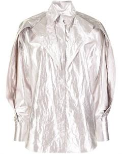 Рубашка с заостренным воротником и эффектом металлик Maticevski